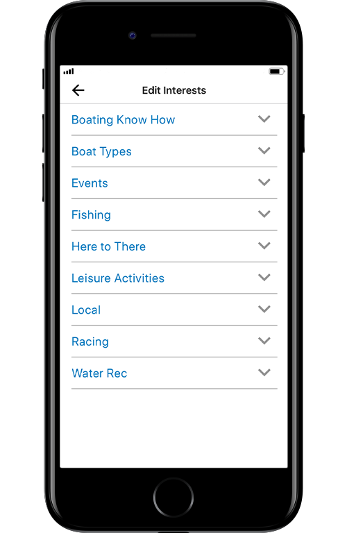 Image Showing the Interests Options