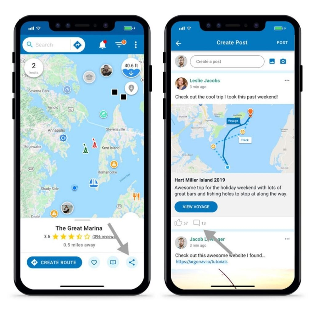 share voyage social feed