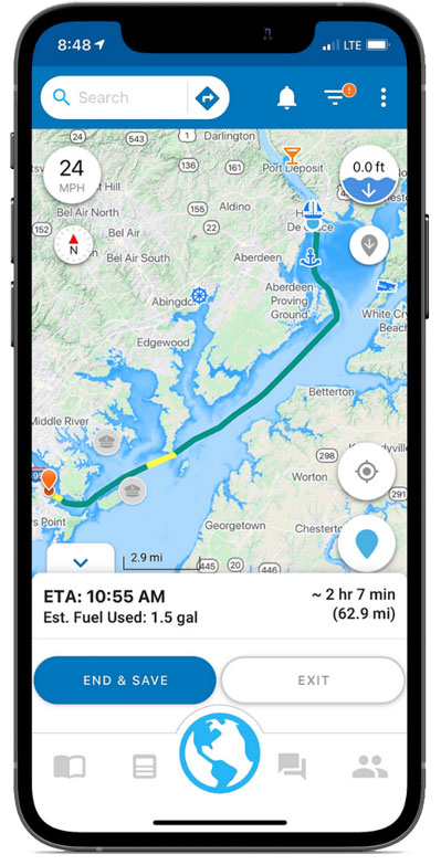 voyage route info